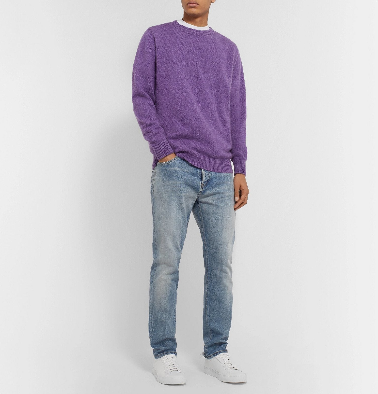 The Elder Statesman - Cashmere Sweater - Purple
