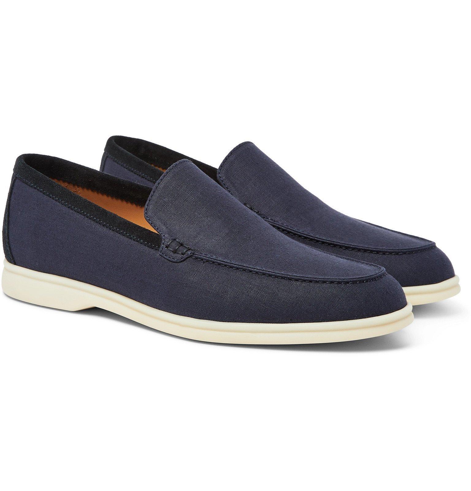 Photo: Loro Piana - Summer Walk Linen Loafers - Blue