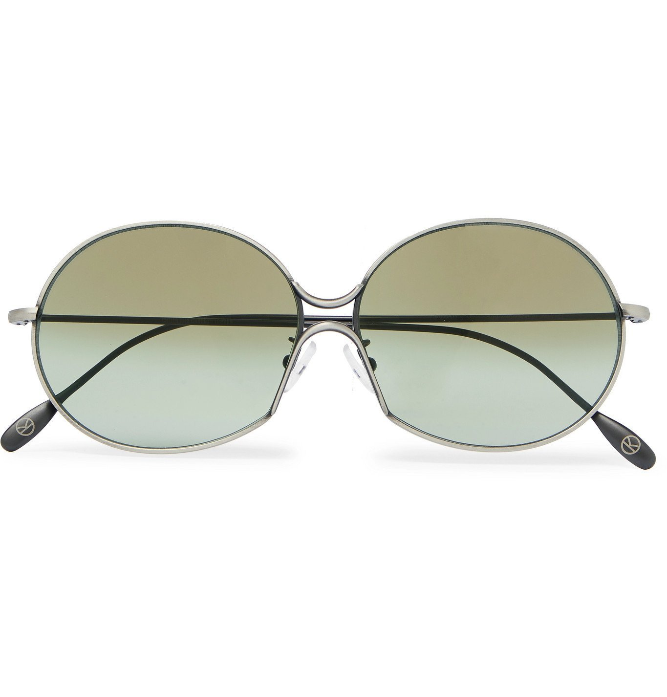 Photo: Kingsman - Cutler and Gross Round-Frame Silver-Tone Metal Sunglasses - Silver