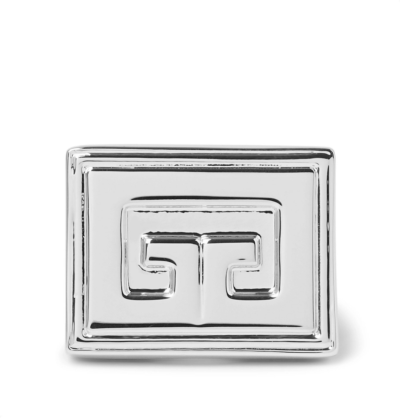 Photo: Givenchy - Logo-Detailed Silver-Tone Ring - Silver