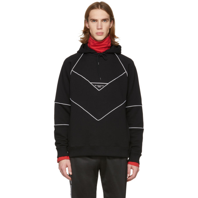 Photo: Givenchy Black Contrast Piping Hoodie