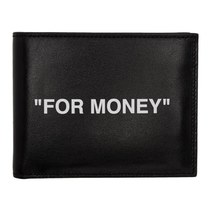 Photo: Off-White Black Quote Bifold Wallet