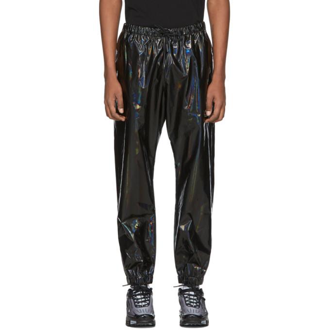 Photo: Marcelo Burlon County of Milan Black Iridescent Lounge Pants
