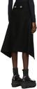 Sacai Black Melton Wool Skirt