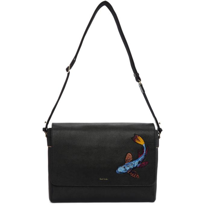 Photo: Paul Smith Black Koi Embroidery Messenger Bag
