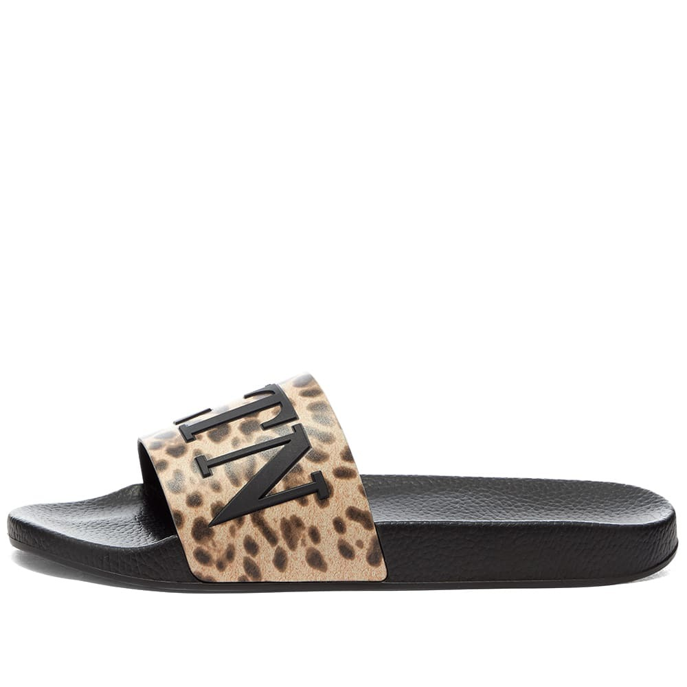 Valentino Leopard Print VLTN Pool Slides