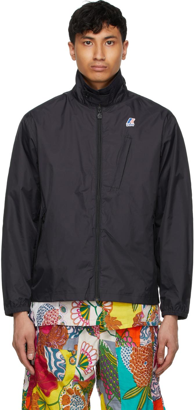 Photo: Engineered Garments Black K-Way Edition Packable Crepin 3.0 Jacket