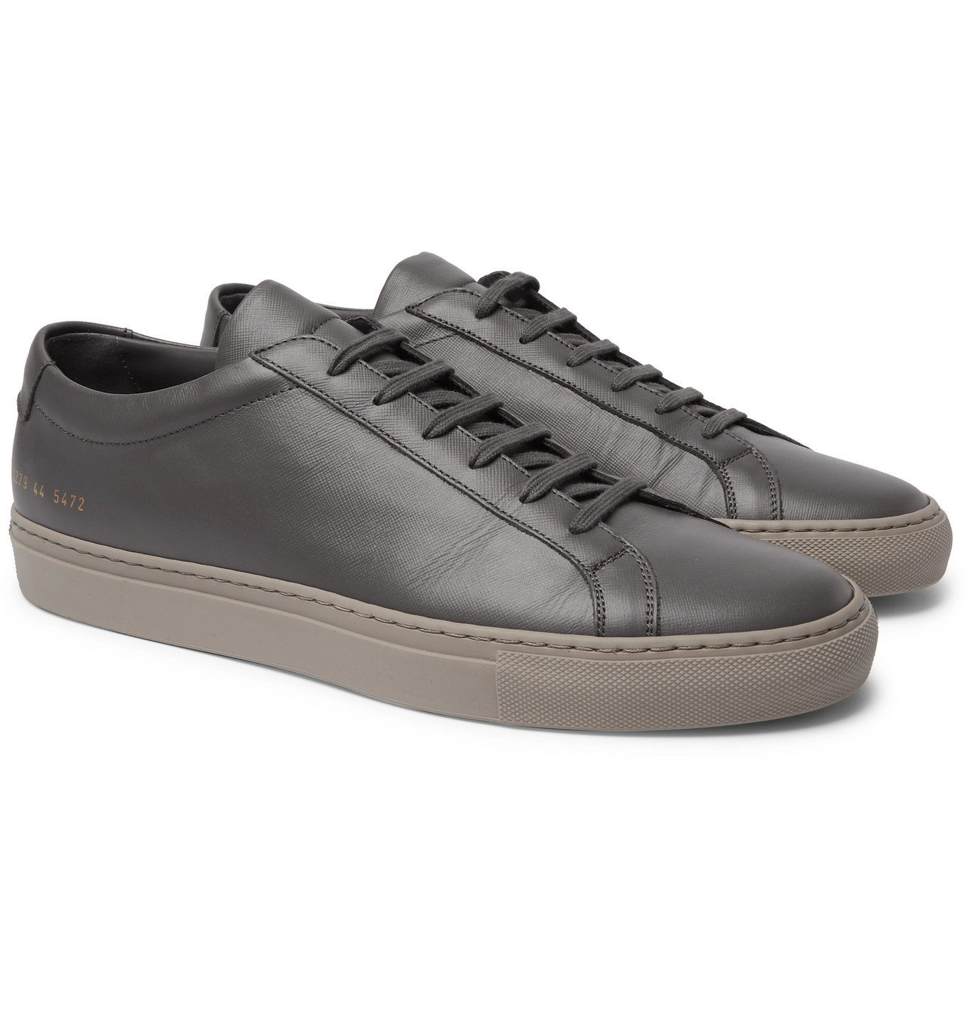 Photo: Common Projects - Original Achilles Saffiano Leather Sneakers - Gray