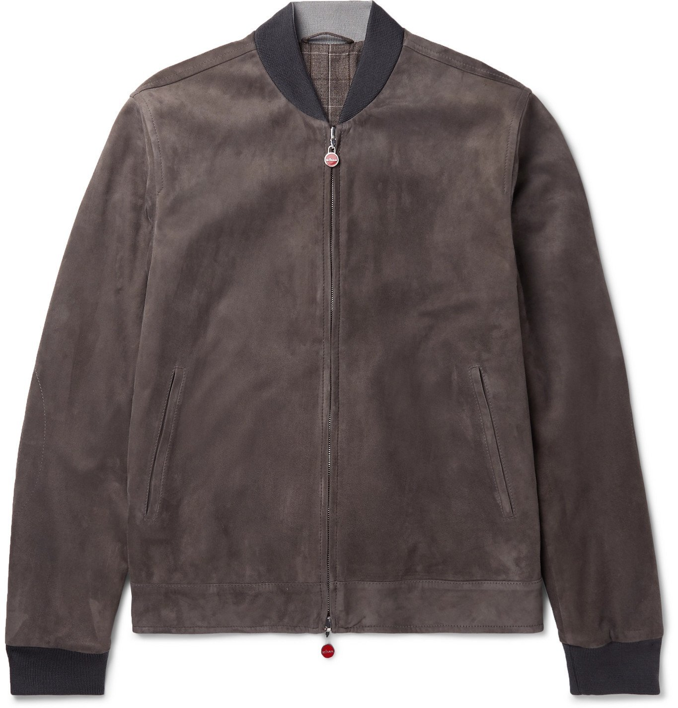 Photo: Kiton - Reversible Suede and Checked Virgin Wool Bomber Jacket - Brown