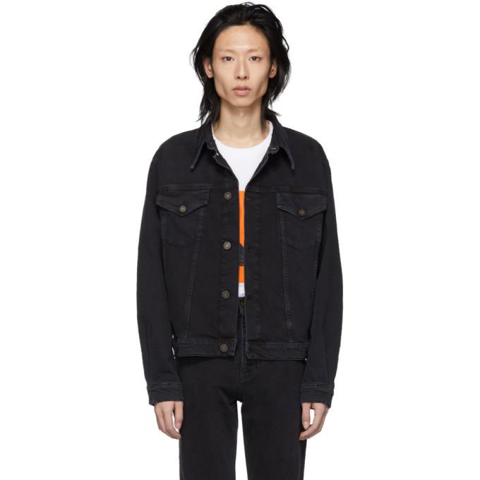 Photo: Calvin Klein Jeans Est. 1978 Black Denim Trucker Jacket