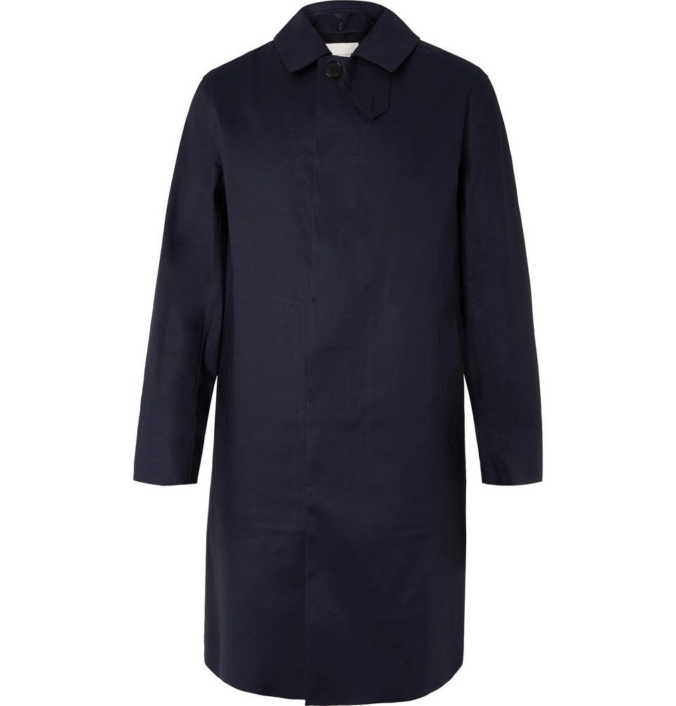 Photo: Mackintosh - Dunkeld Bonded Cotton Raincoat - Navy