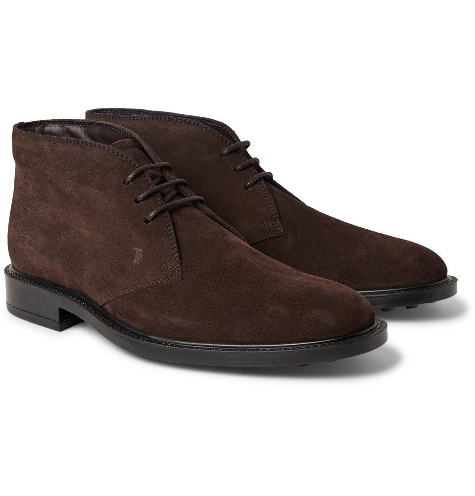 Photo: Tod's - Suede Desert Boots - Dark brown