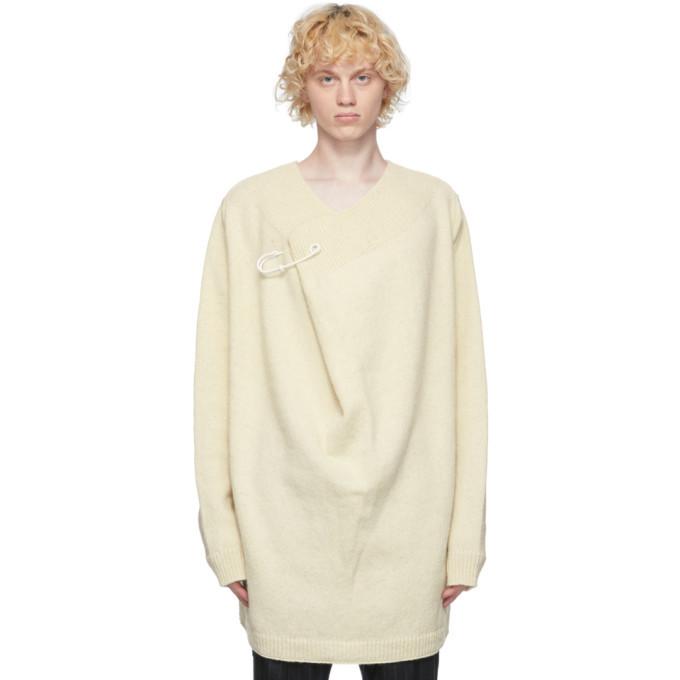 Raf Simons Off-White Wool Pin Sweater