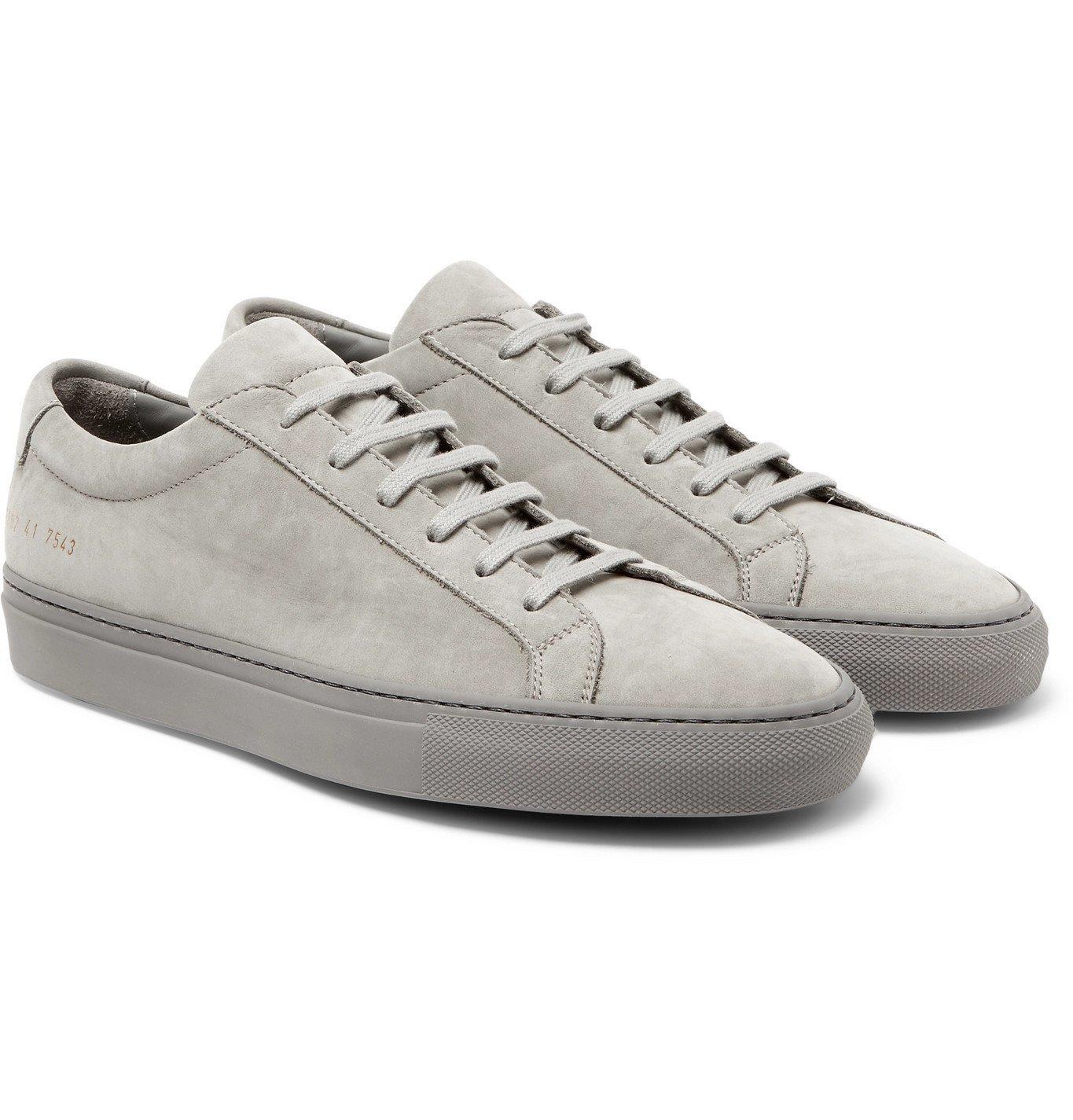 Photo: Common Projects - Original Achilles Nubuck Sneakers - Gray