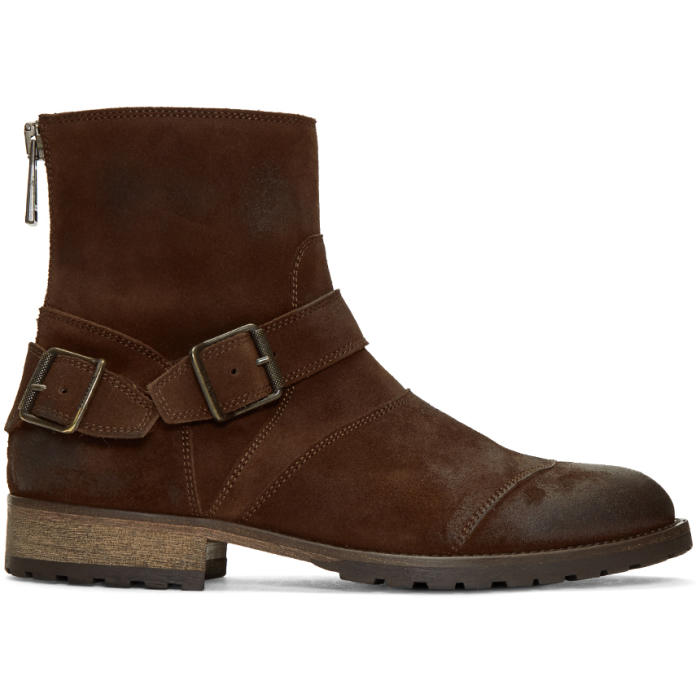 Photo: Belstaff Brown Trialmaster Short Boots