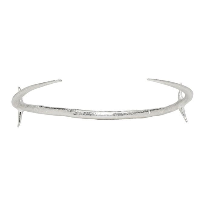 Photo: Pearls Before Swine Silver Two-Tone Thorn Cross Cuff Bracelet