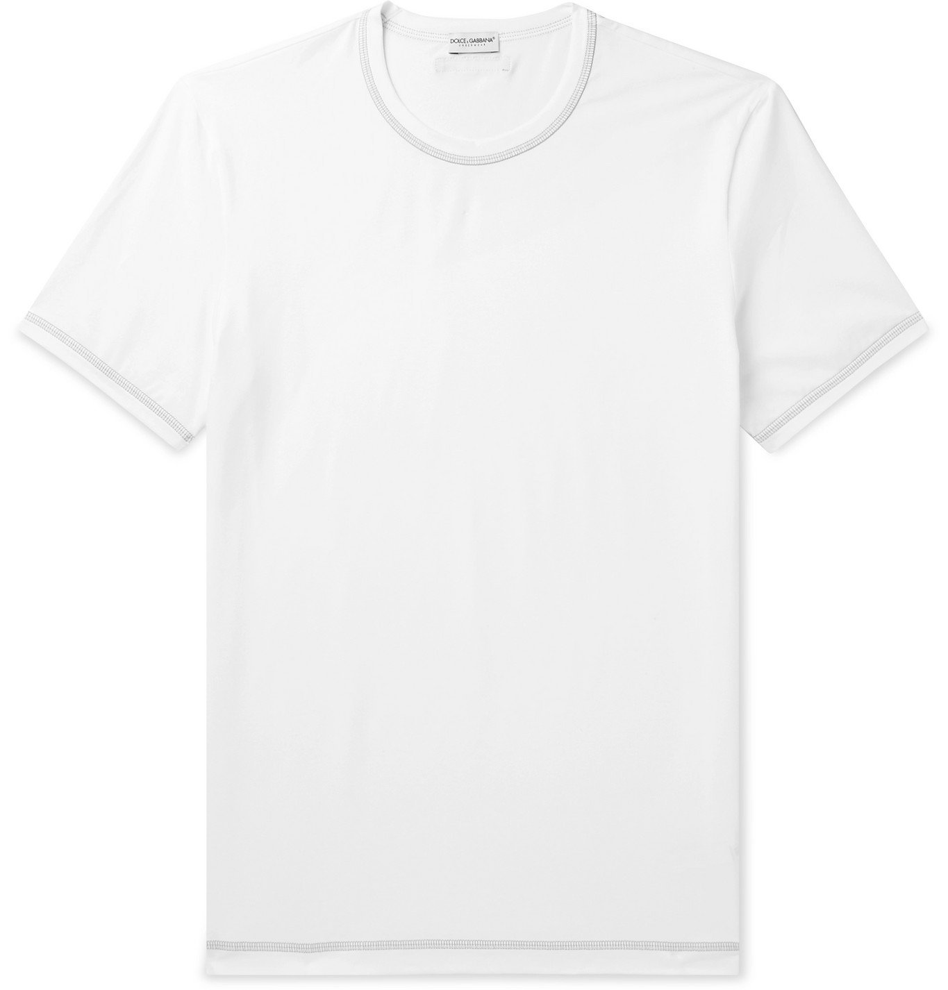 Photo: Dolce & Gabbana - Stretch-Cotton Jersey T-Shirt - White