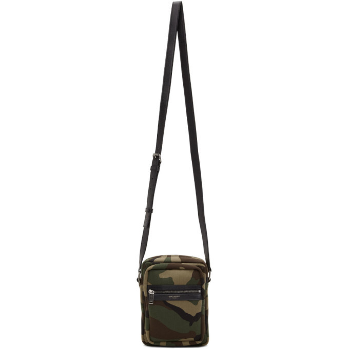 Photo: Saint Laurent Khaki Camo Brad Pouch