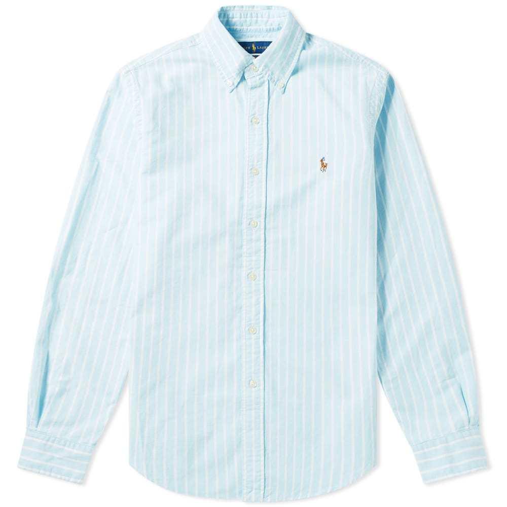 Photo: Polo Ralph Lauren Pin Stripe Button Down Oxford Shirt Stripe