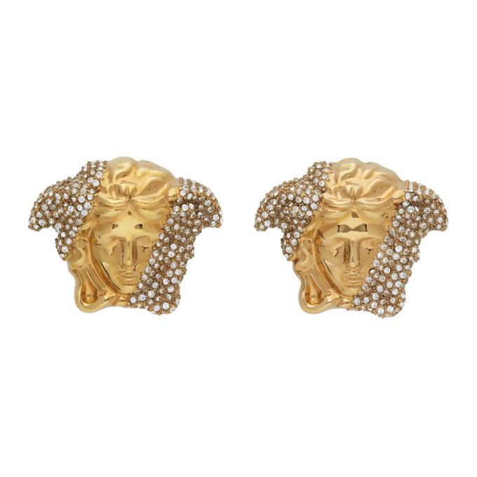 Photo: Versace Gold Palazzo Dia Earrings