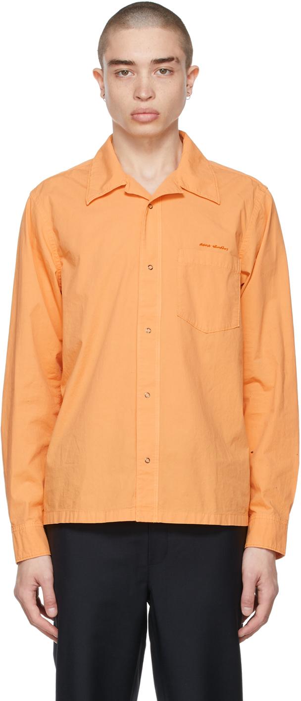 Photo: Acne Studios Orange Boxy Cropped Shirt