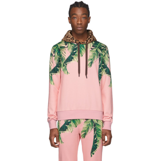 Photo: Dolce and Gabbana Pink Floral and Leopard Hoodie