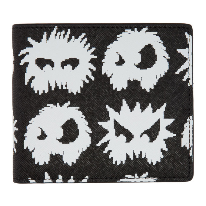 Photo: McQ Alexander McQueen Black and White Monster Wallet