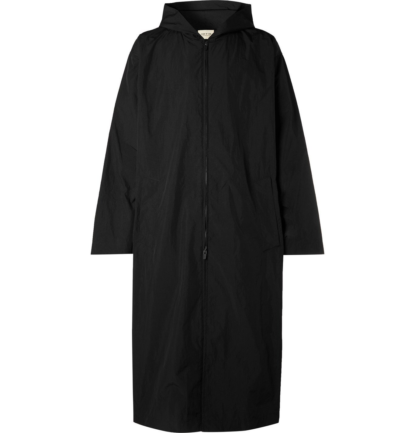 Photo: Fear of God - Oversized Logo-Print Nylon Hooded Raincoat - Black