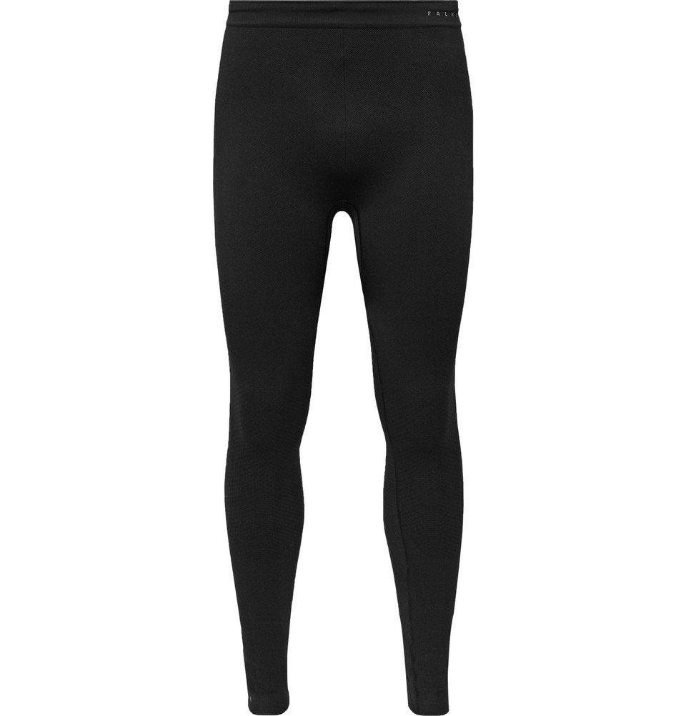 Photo: FALKE Ergonomic Sport System - Parachute Stretch-Piqué Tights - Black