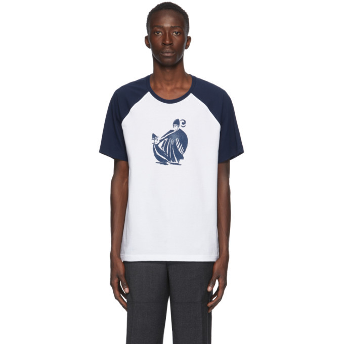 Photo: Lanvin Blue and White Jeanne T-Shirt