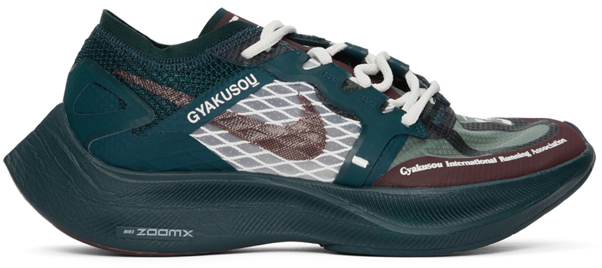Photo: Nike Green & Burgundy Gyakusou ZoomX Vaporfly Next Sneakers