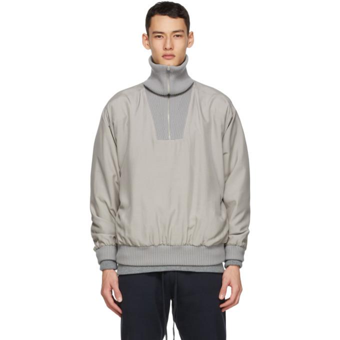 Photo: Fear of God Ermenegildo Zegna Grey Silk Anorak Jacket