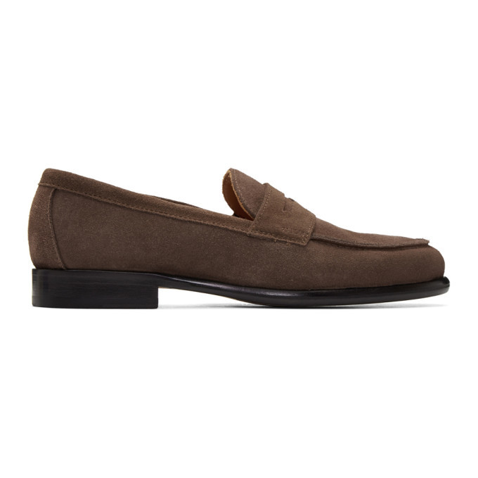 Photo: Officine Generale Brown Suede Mika Penny Loafers