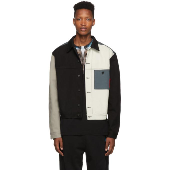 Photo: Marcelo Burlon County of Milan Colorblock Denim jacket