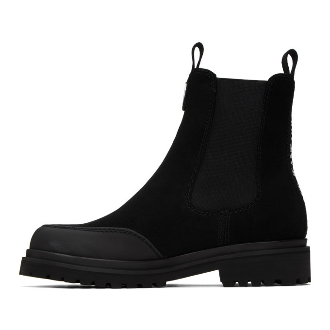 Versace Jeans Couture Black Tank Formal Chelsea Boots