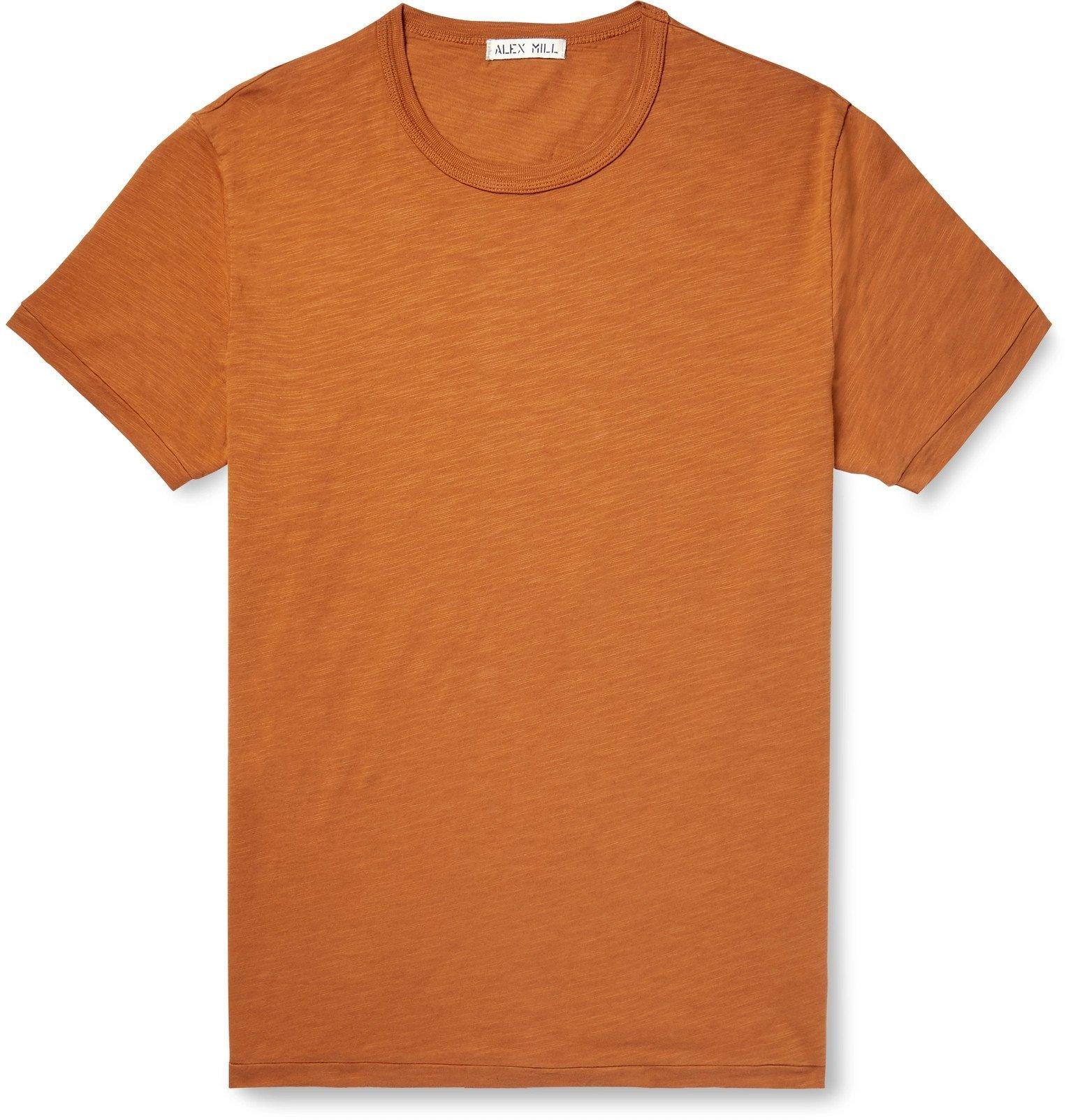 Photo: Alex Mill - Slub Cotton-Jersey T-Shirt - Orange