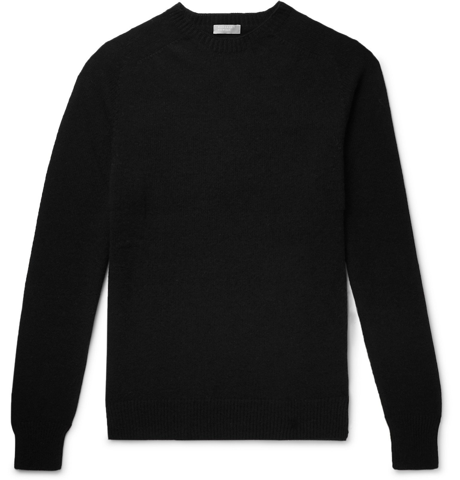 Photo: Margaret Howell - Cotton and Cashmere-Blend Sweater - Black