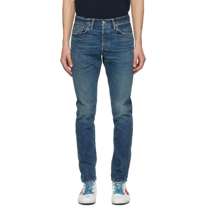 Photo: RRL Blue Slim Narrow Selvedge Jeans