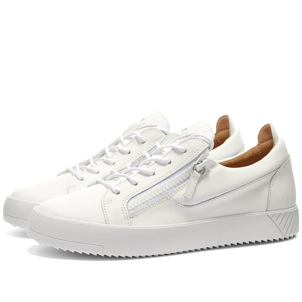 Photo: Giuseppe Zanotti Rubberised Low Zip Tonal Sneaker White