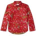 Martine Rose - Chaplin Satin-Jacquard Shirt - Red
