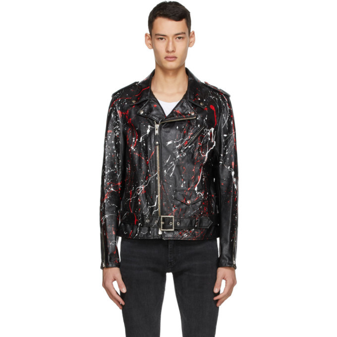 Photo: Schott Black and Red Leather Truth Jacket
