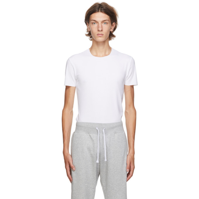 Photo: Ermenegildo Zegna White Crewneck Seamless T-Shirt