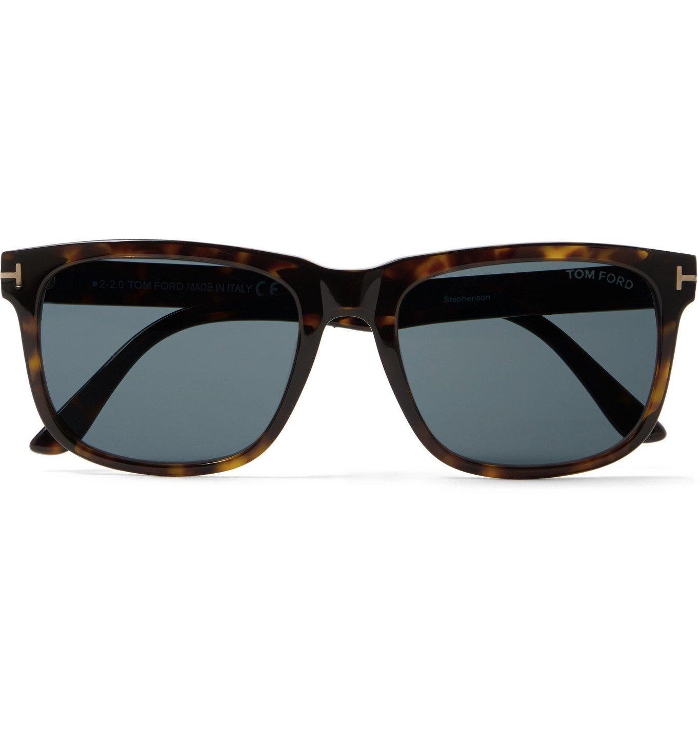 Photo: TOM FORD - Square-Frame Tortoiseshell Acetate Sunglasses - Tortoiseshell