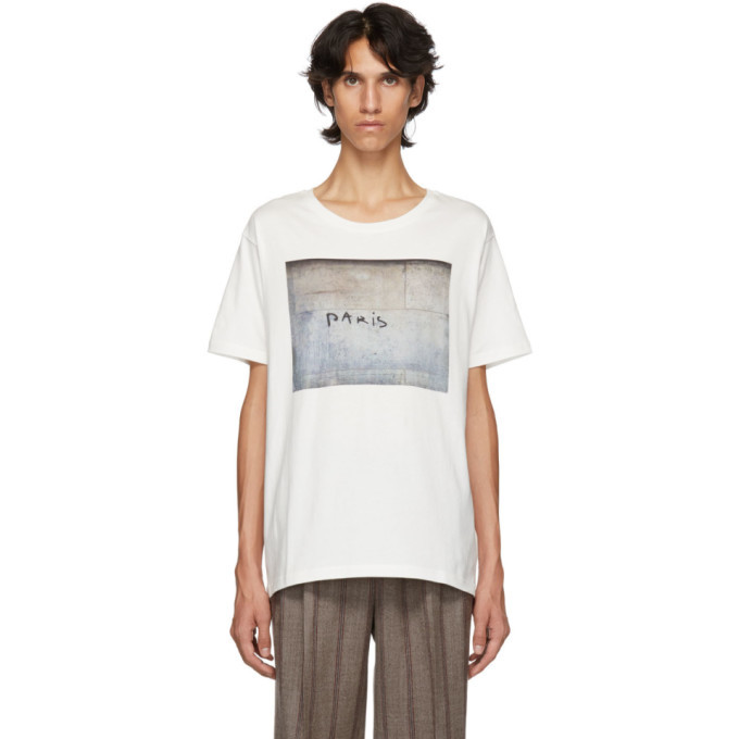 Editions M R White Paris Printed Oversized T Shirt Editions M R