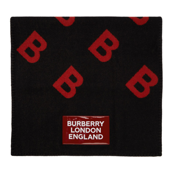 Photo: Burberry Black Patch Rotated B Blanket