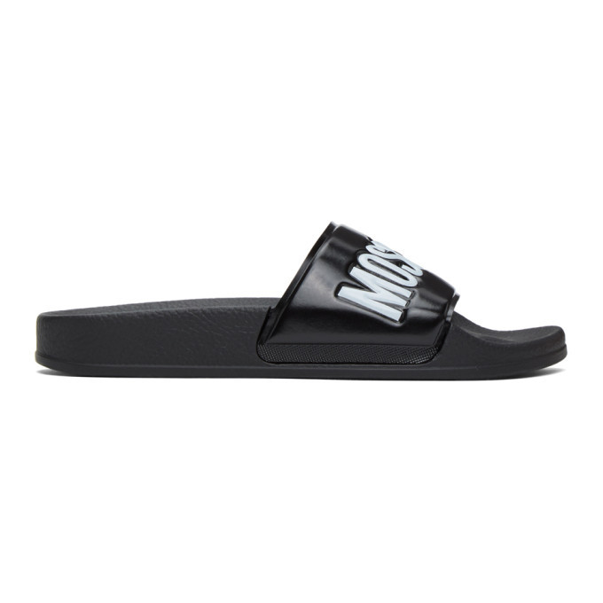 Photo: Moschino Black Logo Slides