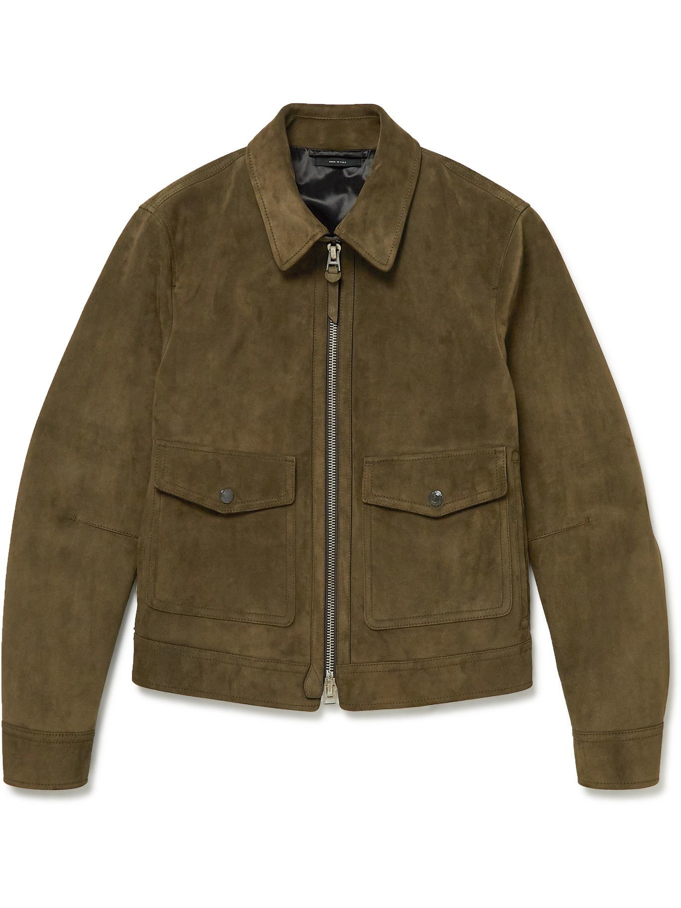 Photo: TOM FORD - Suede Blouson Jacket - Green