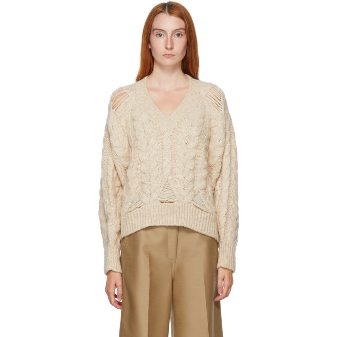 Stella McCartney Beige Cable Knit Sweater