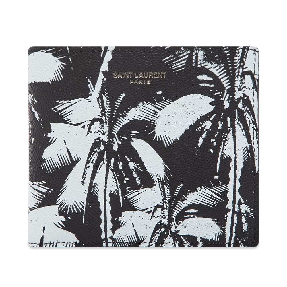 Photo: Saint Laurent Palm Print Leather East West Wallet