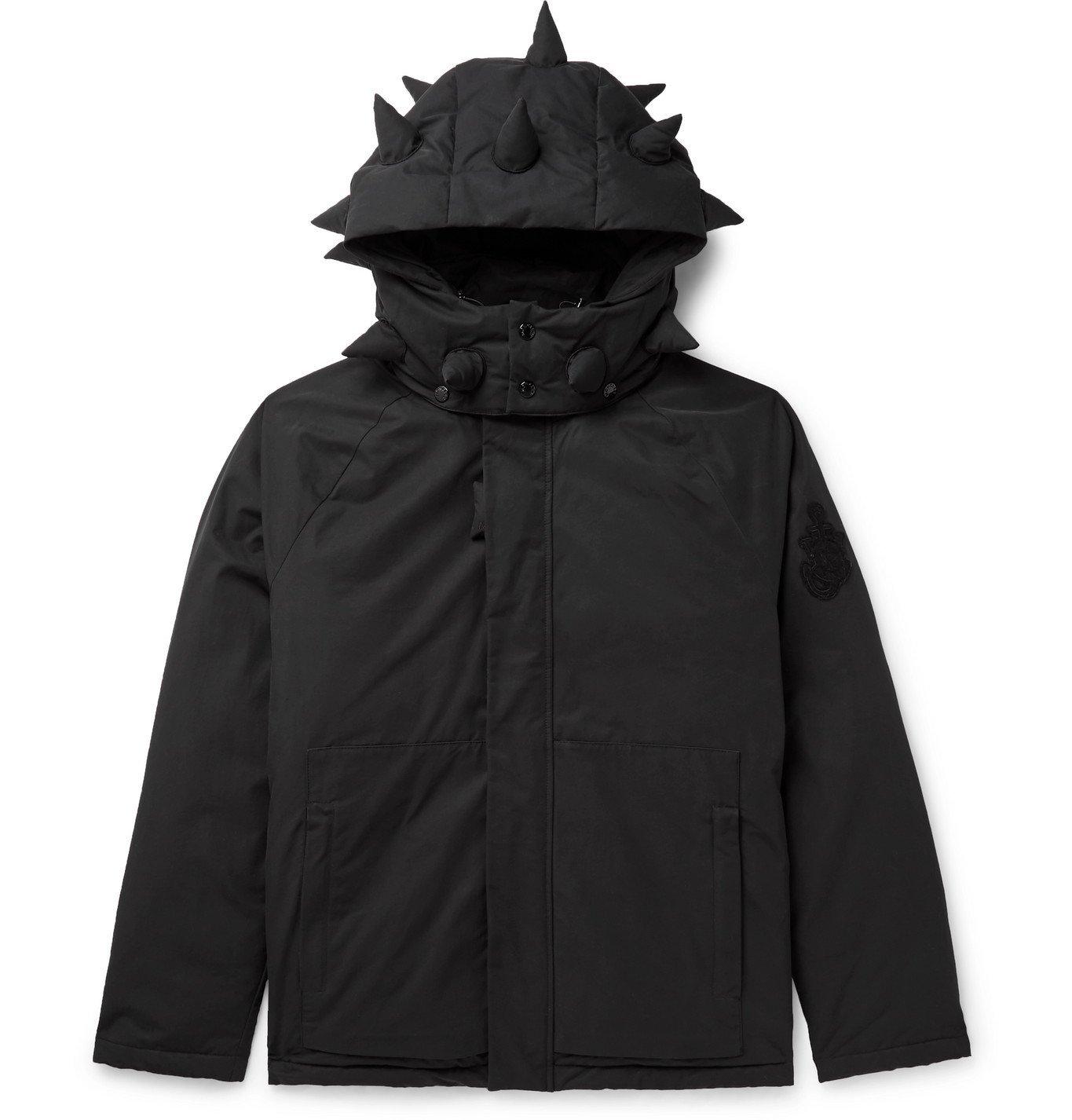 Photo: Moncler Genius - 1 JW Anderson Logo-Appliquéd Cotton-Blend Shell Down Hooded Jacket - Black